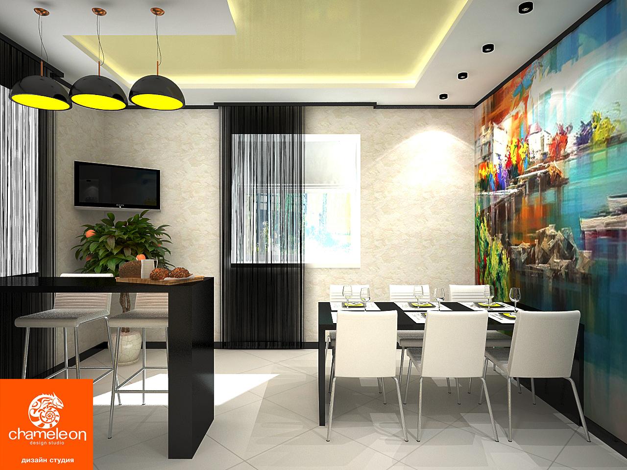 Дизайн в квартире студии 30 квм